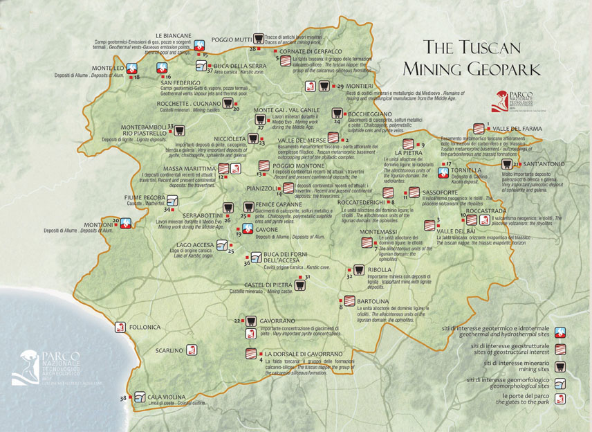 mappa geoparco